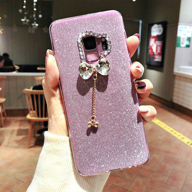 Bling Glitter Diamonds Bowknot Case For Samsung Galaxy Series