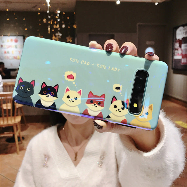 Blue-ray Cute Animal Paws Case For Samsung Galaxy Series