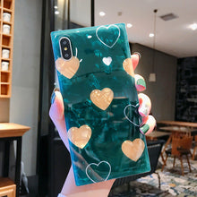 画像をギャラリービューアに読み込む, Glossy Luxury Cute Shell Pattern Love Heart Case For iPhone Series