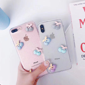 Cute Cartoon 3D White Clouds Candy Colors Case For iPhone Series