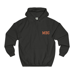 MBG UNISEX HOODIE - CHOCOLATE/ORANGE