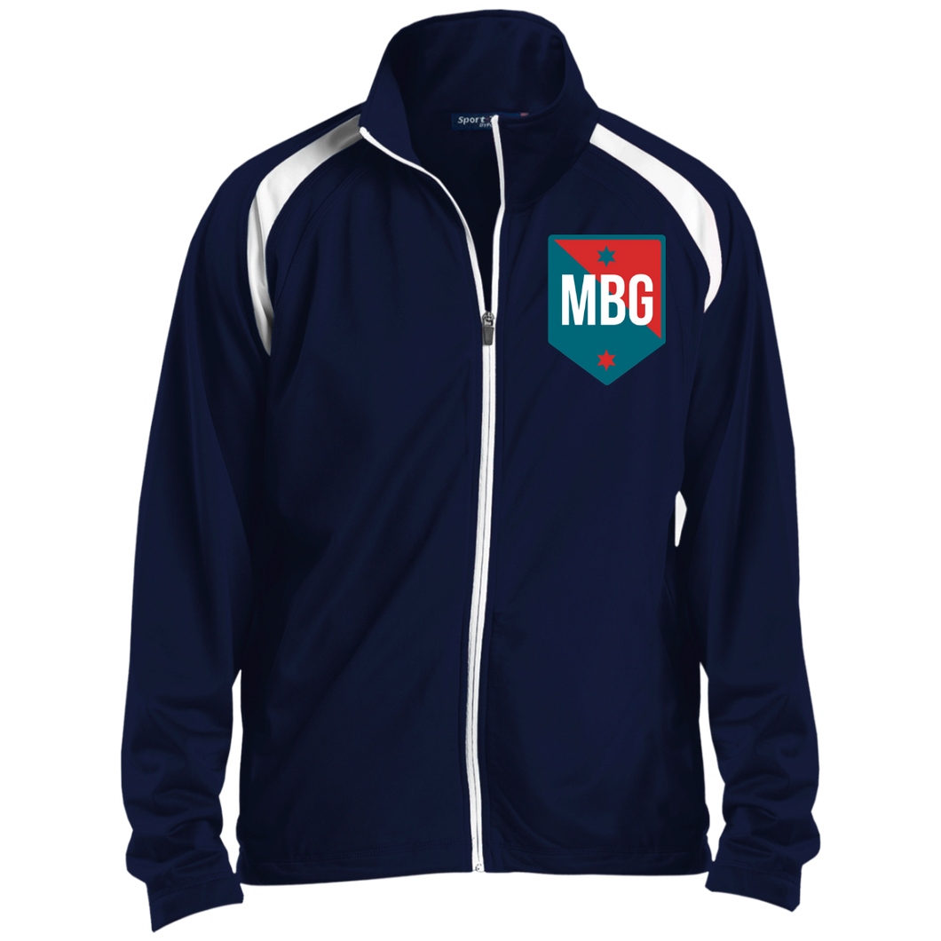 MBG Men's Raglan Sleeve Warmup Jacket