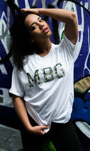 MBG TRAINING TEE - WHITE/CAMO