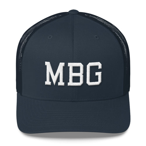 MBG Navy/Black/White Trucker Cap
