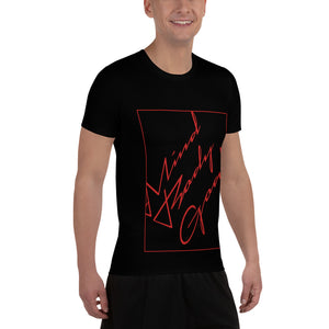 Red Angled Athletic T-shirt