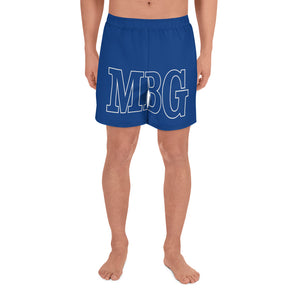 Bold Blue Athletic Long Shorts