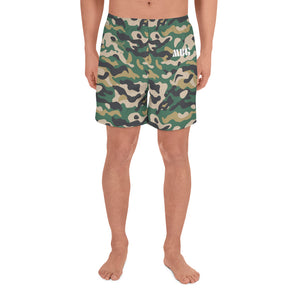 Green Camo Athletic Shorts