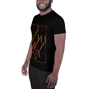 Orange Angled Athletic T-shirt
