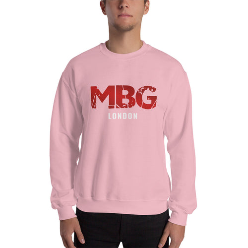 Red Block Pink Sweatshirt