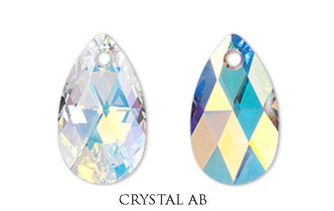 Swarovski Faceted Drop Charm
