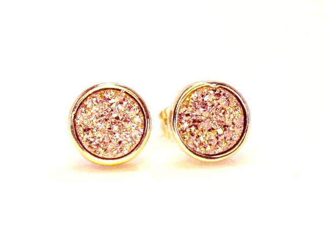 """Gem Twist"" Druzy Earrings"