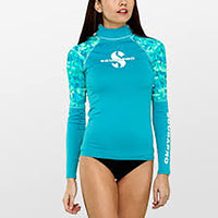 SCUBAPRO UPF 50 WOMEN'S LONG SLEEVE RASH GUARD