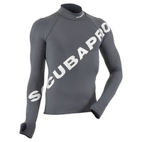 SCUBAPRO GO BIG GRAY RASH GUARD - LONG SLEEVE