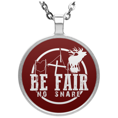 """Be Fair"" Circle Necklace"