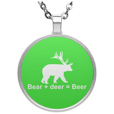 """Bear + Deer"" Circle Necklace"