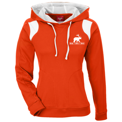 """Bear + Deer"" Ladies' Poly Hoodie"