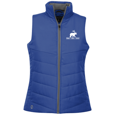 """Bear + Deer"" Ladies' Quilted Vest"