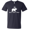 """Bear + Deer"" Men's V-Neck T-Shirt"