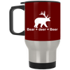 """Bear + Deer"" Stainless Travel Mug"
