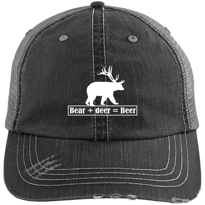 """Bear + Deer"" Unstructured Trucker Cap"