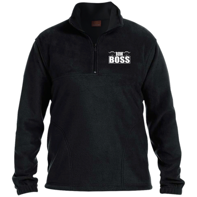 """Bow Boss"" 1/4 Zip Fleece Pullover"