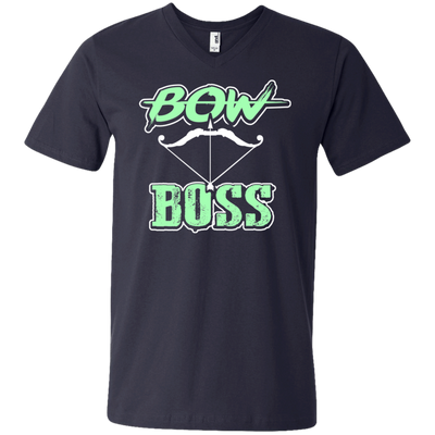 """Bow Boss"" Men's V-Neck T-Shirt"