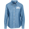 """Bow Boss"" Women's Denim Shirt"