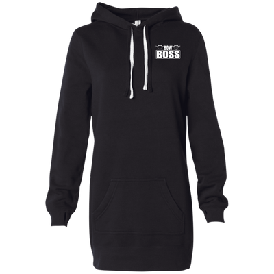 """Bow Boss"" Women's Hooded Pullover Dress"