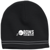 """Bows over Hoes"" Colorblock Beanie"