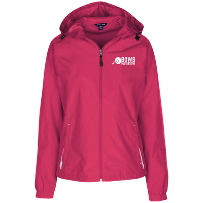 """Bows over Hoes"" Ladies' Hooded Windbreaker"