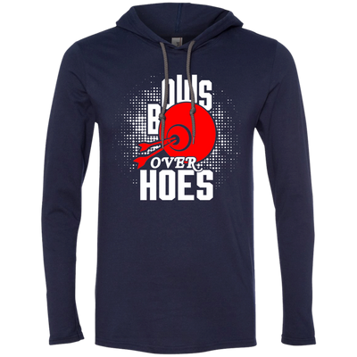 """Bows over Hoes"" LS T-Shirt Hoodie"