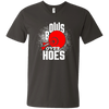 """Bows over Hoes"" Men's V-Neck T-Shirt"