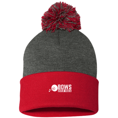 """Bows over Hoes"" Pom Pom Knit Cap"