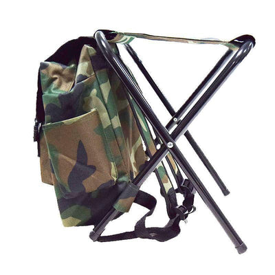 Camouflage Folding Chair Backpack