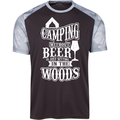 """Camping without Beer"" CamoHex T-Shirt"