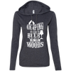 """Camping without Beer"" Ladies' LS T-Shirt Hoodie"