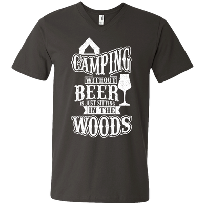 """Camping without Beer"" Men's V-Neck T-Shirt"