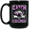 """Catch Fish"" 15 oz. Black Mug"
