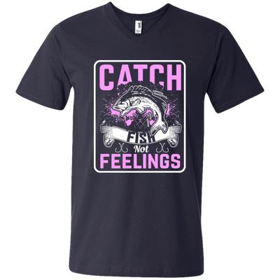 """Catch Fish"" Men's V-Neck T-Shirt"