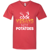 """Cook Vegans"" Men' V-Neck T-Shirt"