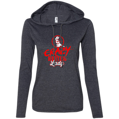 """Crazy Hunting Lady"" Ladies' LS T-Shirt Hoodie"