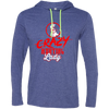 """Crazy Hunting Lady"" Men's LS T-Shirt Hoodie"
