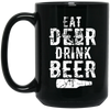 """Deer Beer"" 15 oz. Black Mug"