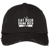 """Deer Beer"" Distressed Cap"