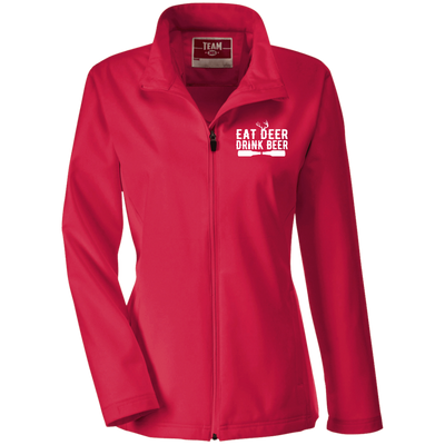 """Deer Beer"" Ladies' Soft Shell Jacket"