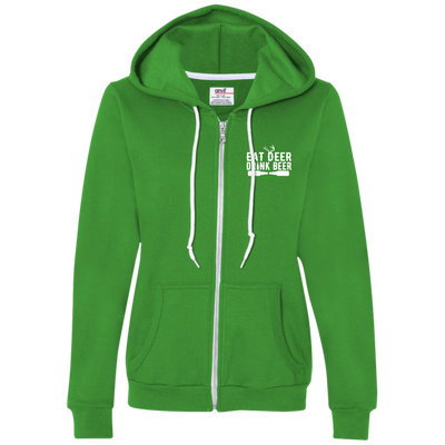 Eat Deer Ladies Hooded Fleece
