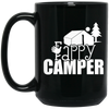 """Fappy Camper"" 15 oz. Black Mug"
