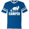"""Fappy Camper"" V-Neck Sleeve Stripe Jersey"