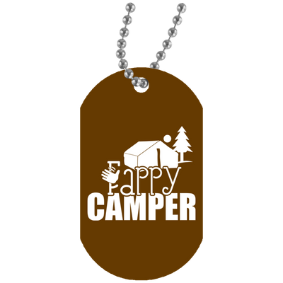 """Fappy Camper"" White Dog Tag"