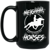 """Feed my Horses"" 15 oz. Black Mug"